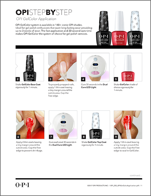 OPI Step by Step