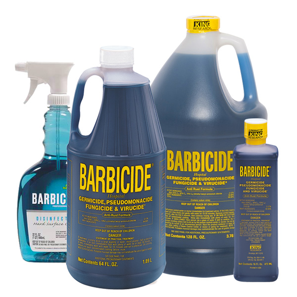 Clean and Disinfect with Barbicide & BlueCo Brands