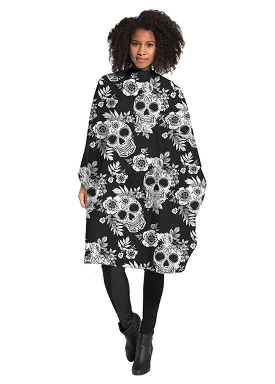 Betty Dain Tatted Skull Cape