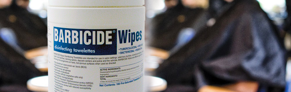 Staying Healthy in the Salon with Barbicide Wipes