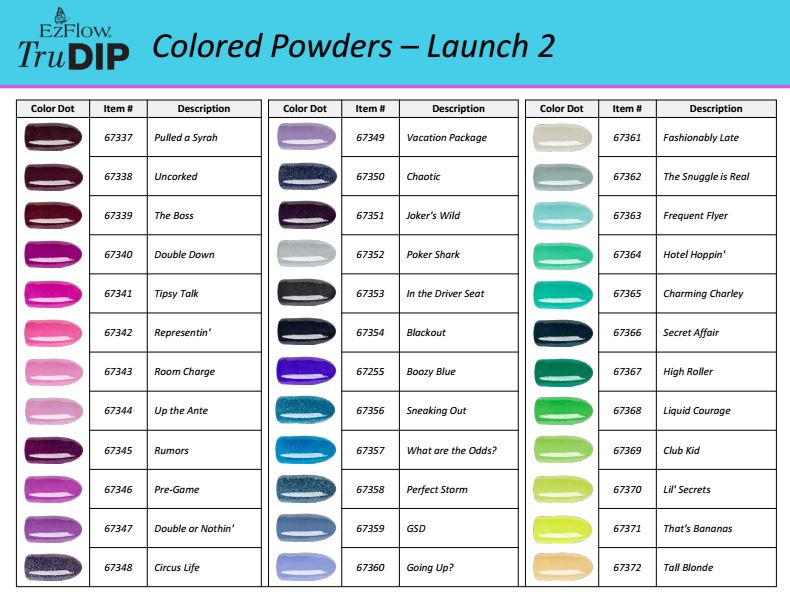 Ez Flow TruDip 3 Step System Now Comes in 144 Shades of Gorgeous
