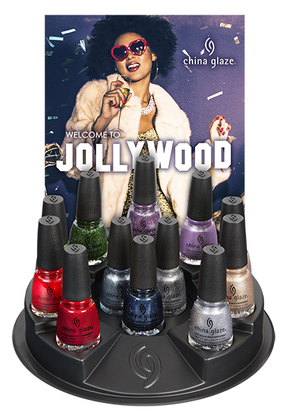China Glaze Welcome to Jollywood DIsplay