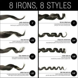 Curling Iron Line Up The Right Wand For Every Curl