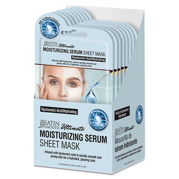 Satin Smooth Moisturizing Serum Sheet Mask, 24 Piece Gift Box - 814085