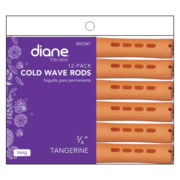 Diane Long Cold Wave Perm Rods 12 Pack