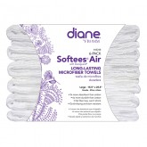 Diane Softees Air Microfiber White Towels, 6 Pack