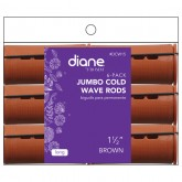 Diane Jumbo Cold Wave Perm Rods, 6 Pack