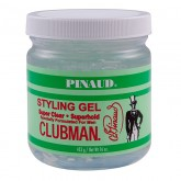 Clubman Pinaud Super Clear Superhold Styling Gel, 16 oz