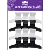 "Diane Large Butterfly Clamps 3 1/4"", 12 Pack"