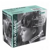 Hair Ware All Purpose Double-Prong Clips, 80 Pack