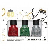 China Glaze Sesame Street 50th Anniversary On The Nice List , 3 Piece Mini Kit (Holiday Collection)